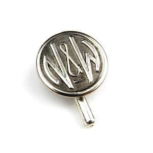 Norfolk and Western Railroad Vintage Button Pin - Silver