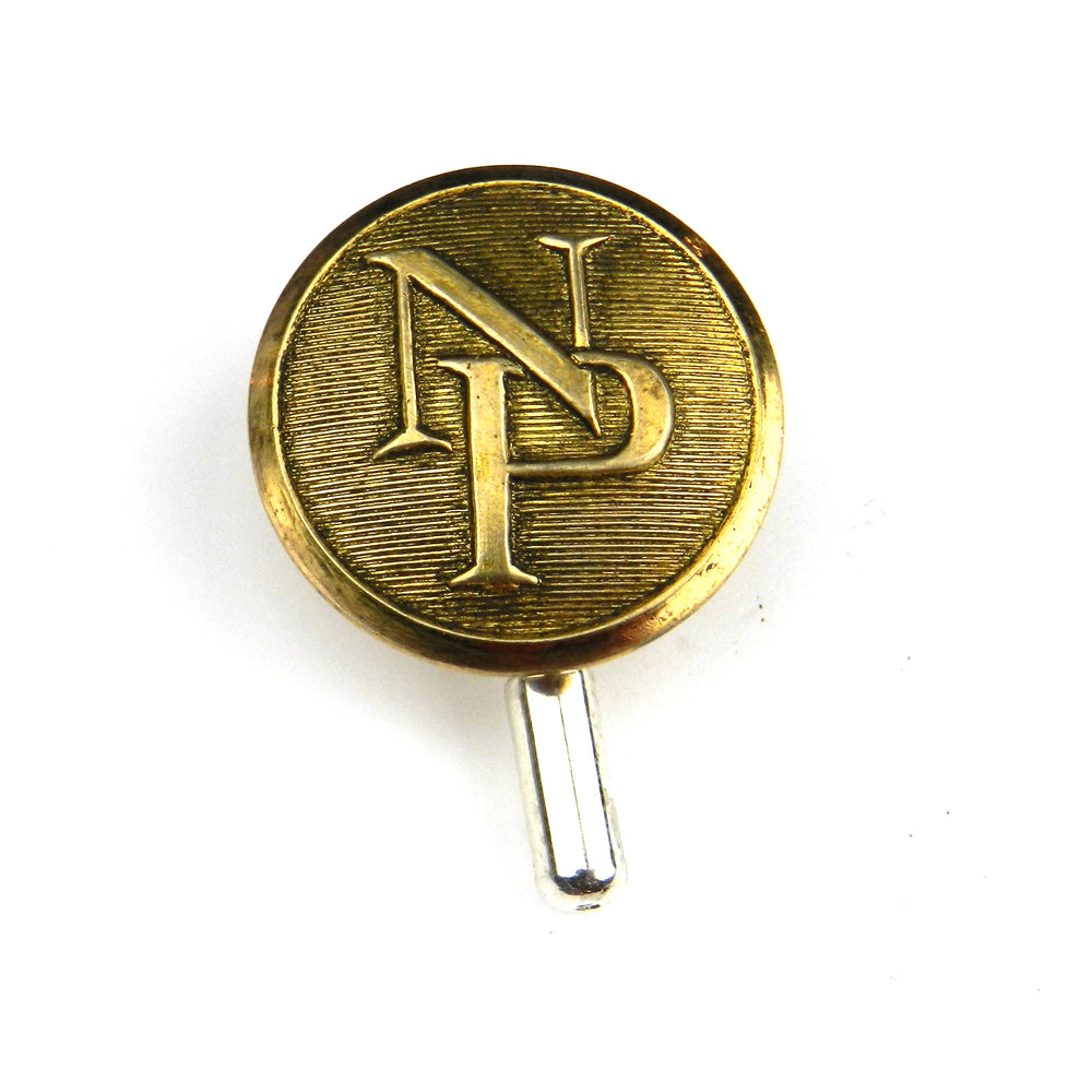 Northern Pacific Railroad Vintage Button Pin - Brass