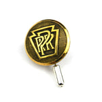 Pennsylvania Railroad - Antique Train Button Hat Pin - Brass