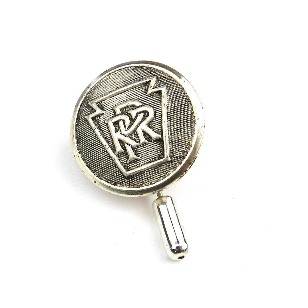 Pennsylvania Railroad - Antique Train Button Hat Pin - Steel