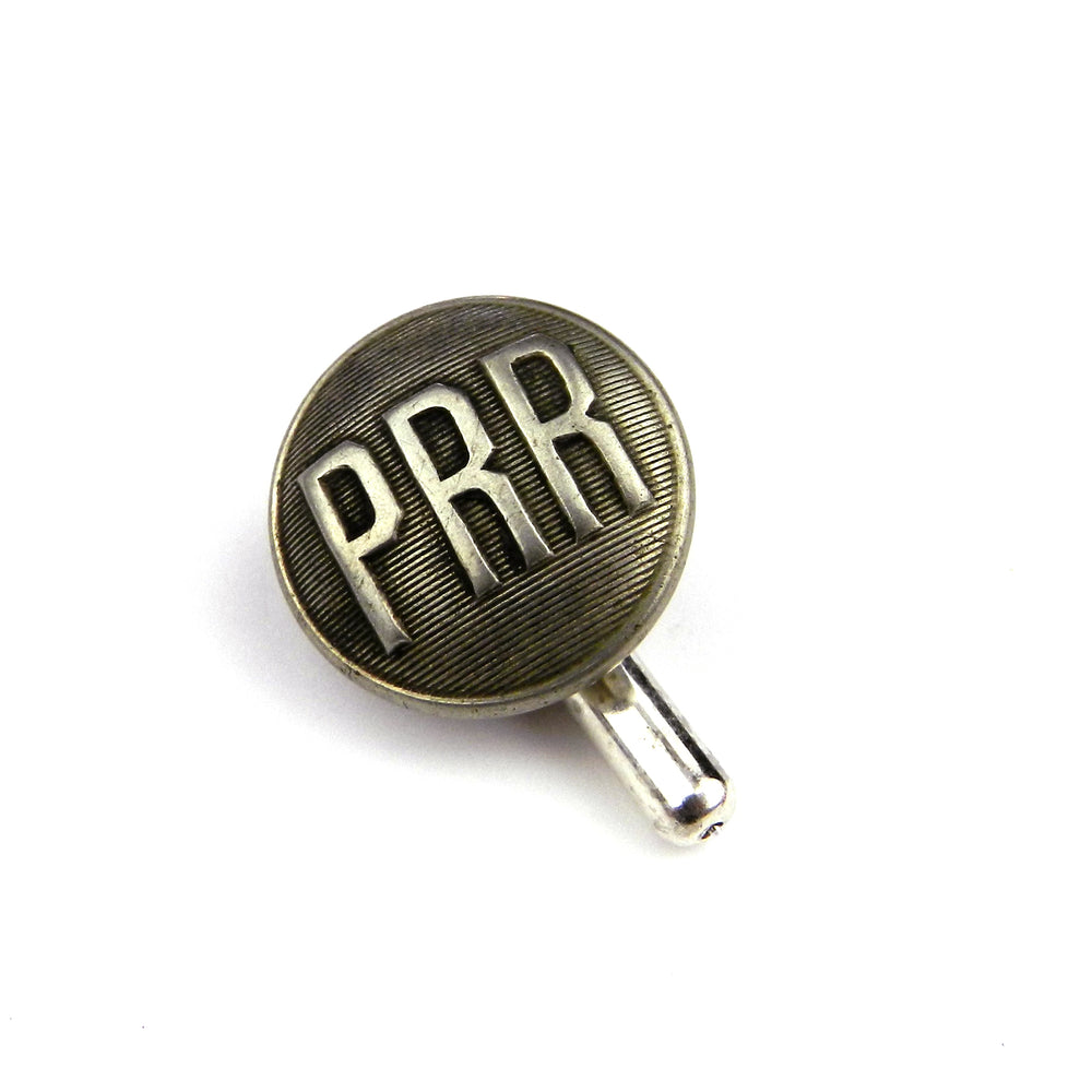 Pennsylvania Railroad Vintage Train Button Pin - Steel