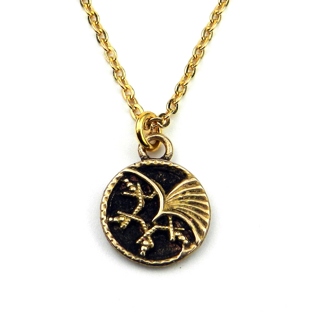 PHOENIX Vintage Button Necklace - GOLD