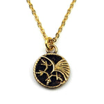 PHOENIX Vintage Button Charm Necklace - GOLD