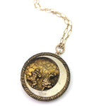 Pierrot and Pierrette Antique Button Necklace