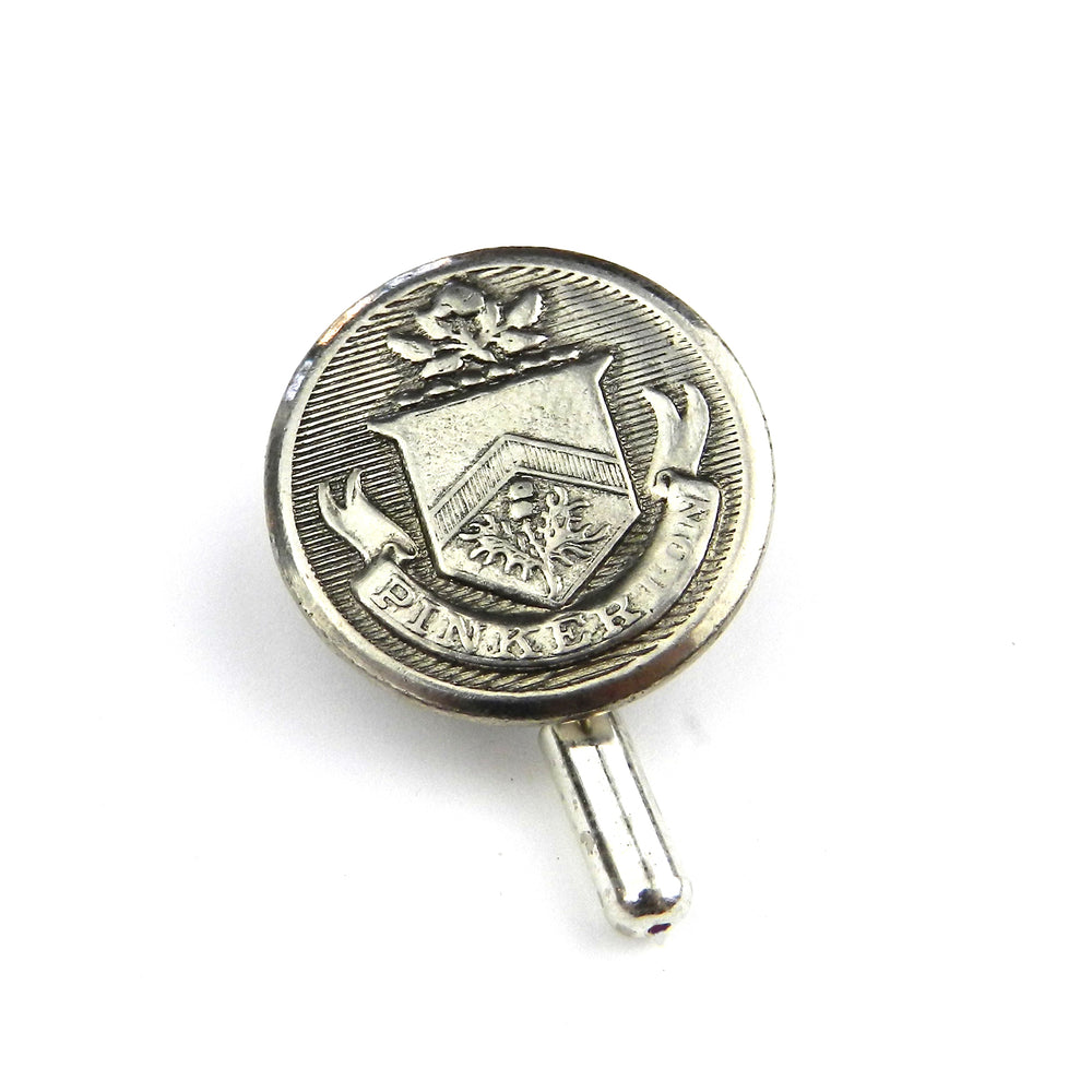 Pinkerton Detective Vintage Button Pin - Large