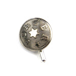 Porter Vintage Railroad Button Hat Pin / Lapel Pin - Silver Star