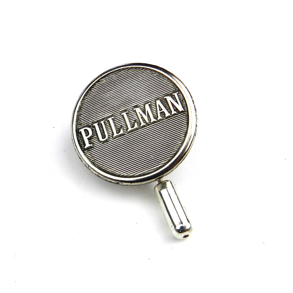 Pullman Railroad Vintage Button Pin - Silver