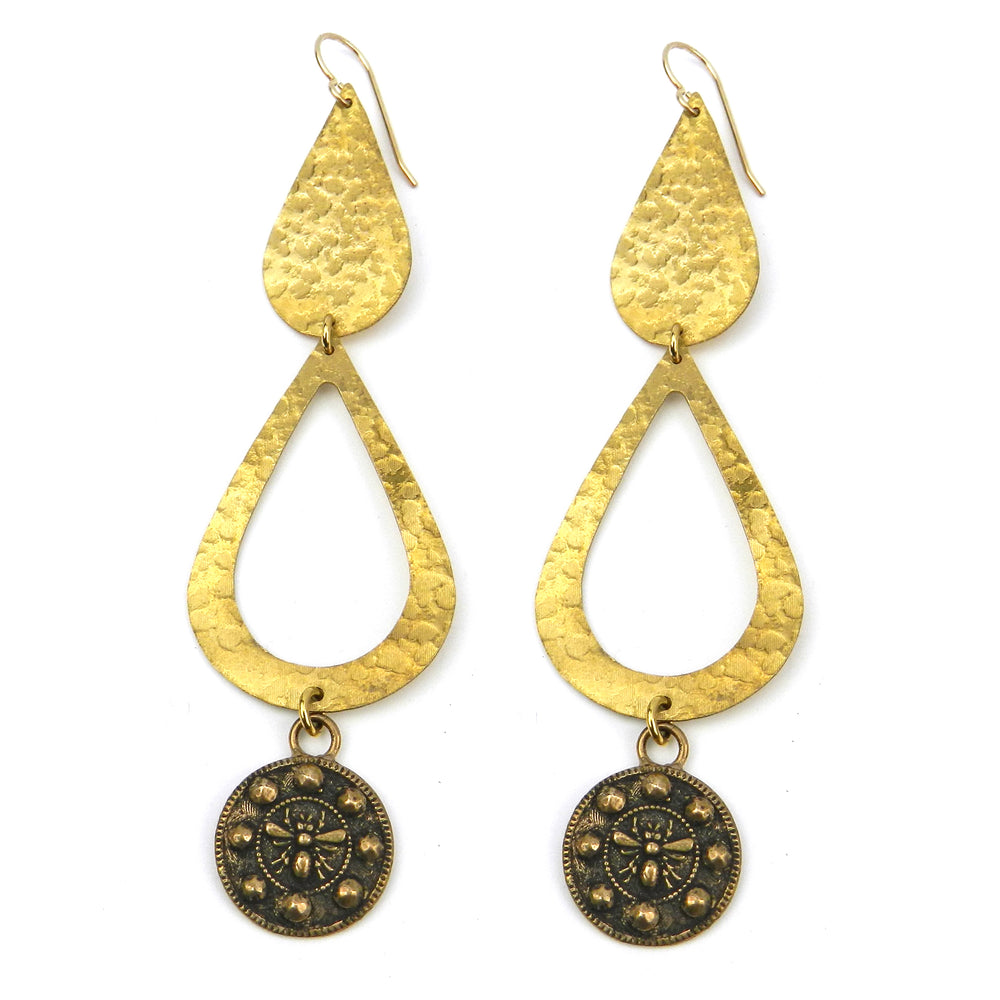 QUEEN BEE Duet Earrings - GOLD