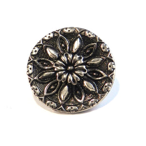 RADIANCE Antique Button Lapel or Hat Pin - SILVER or BRONZE