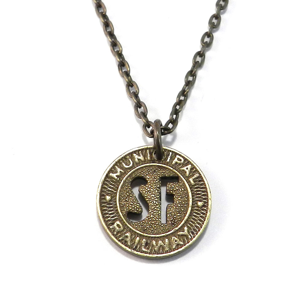 San Francisco Trolley - SF MUNI Vintage Token Necklaces