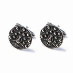 PEACOCK Antique Button Cufflinks - SILVER