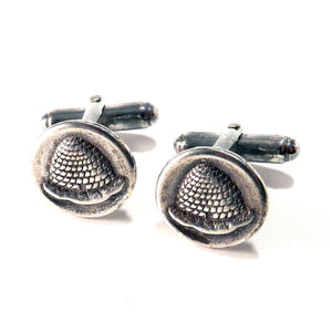 BEEHIVE Antique Button Cufflinks - SILVER