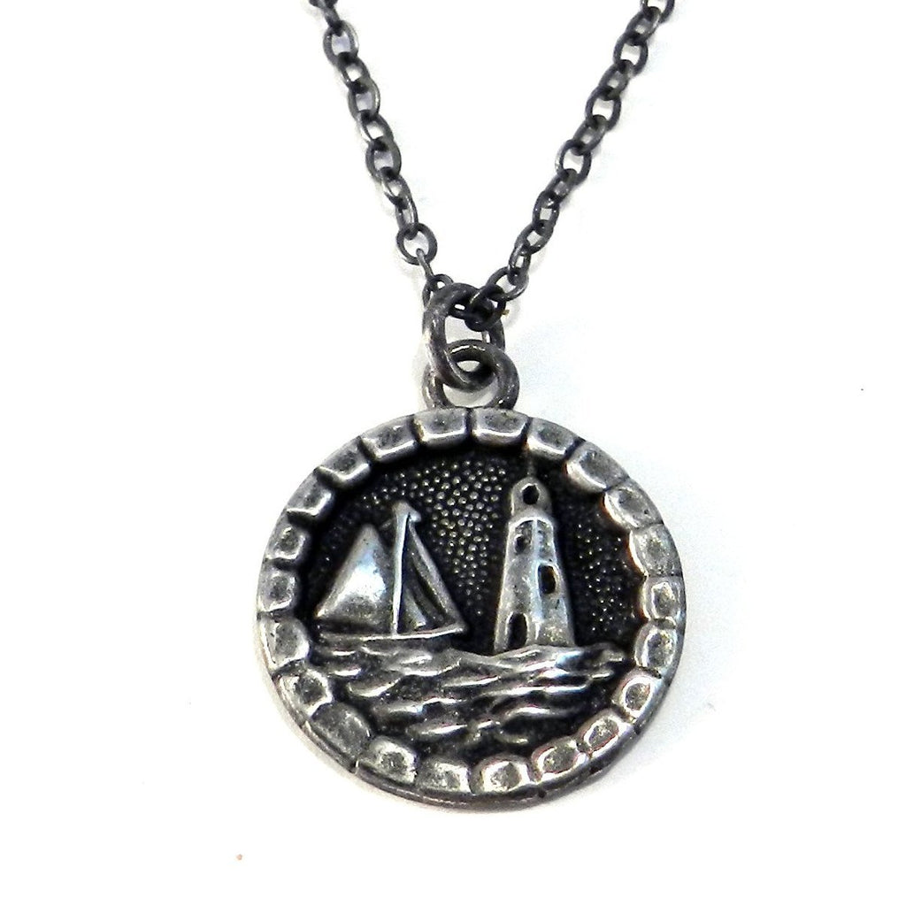 LIGHTHOUSE - Antique Button Necklace - SILVER
