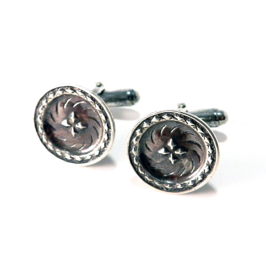 DIRECTIONS Antique Button Cufflinks - SILVER