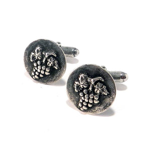 HARVEST GRAPE Antique Button Cufflinks - SILVER