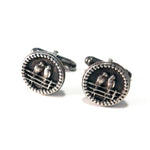 LOVEBIRDS Antique Button Cufflinks - SILVER
