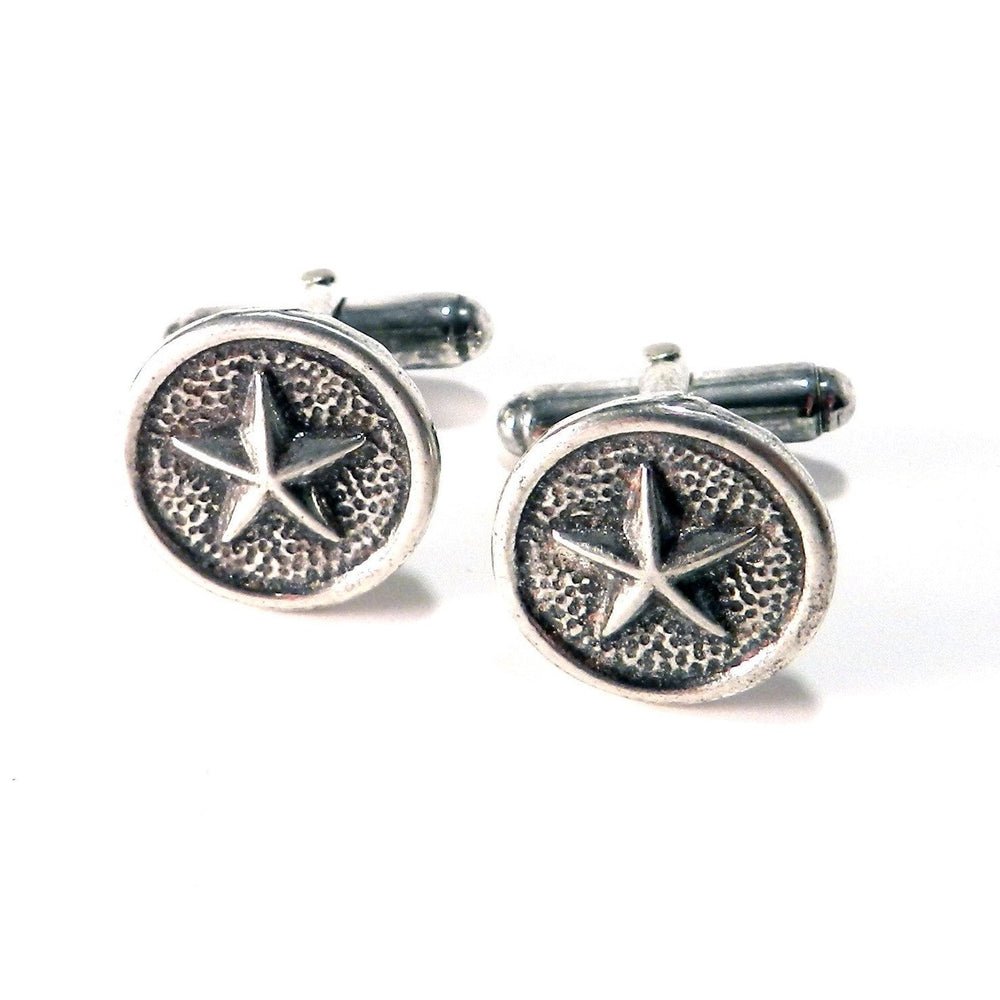 STAR Antique Button Cufflinks - SILVER