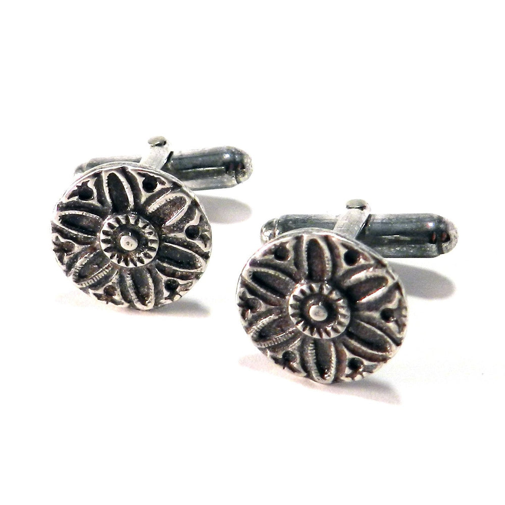 SUNLIGHT Antique Button Cufflinks - SILVER