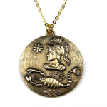 SCORPIO - Victorian Zodiac Button Necklace