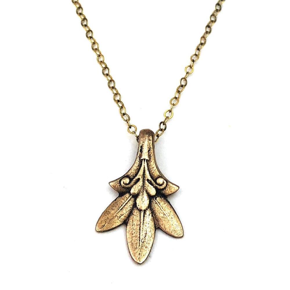 TRILLIUM Vintage Teaspoon Necklace - GOLD