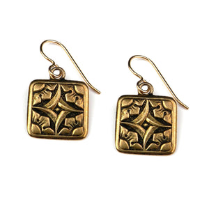 SIRIUS Dog Star Vintage Button Earrings - GOLD
