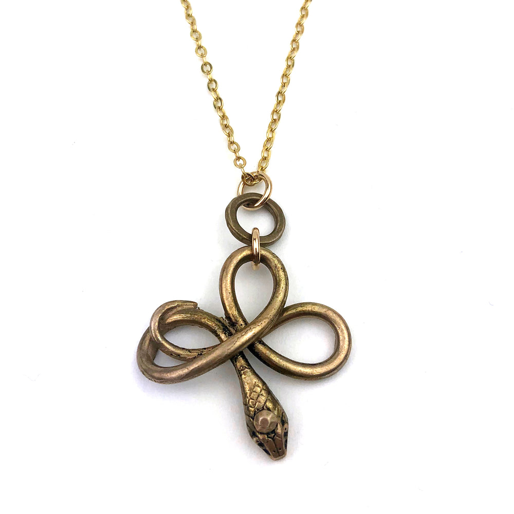 SERPENT Charm Necklace - GOLD
