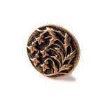 SNOWDROP Antique Button Lapel or Hat Pin - SILVER or BRONZE