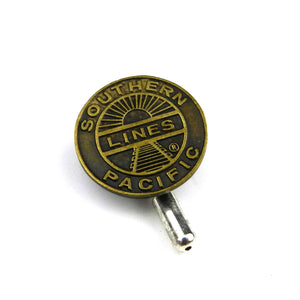 Southern Pacific Line Railroad Vintage Button Pin - Brass
