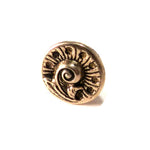 FERN / NAUTILUS Antique Button Lapel or Hat Pin - SILVER or BRONZE