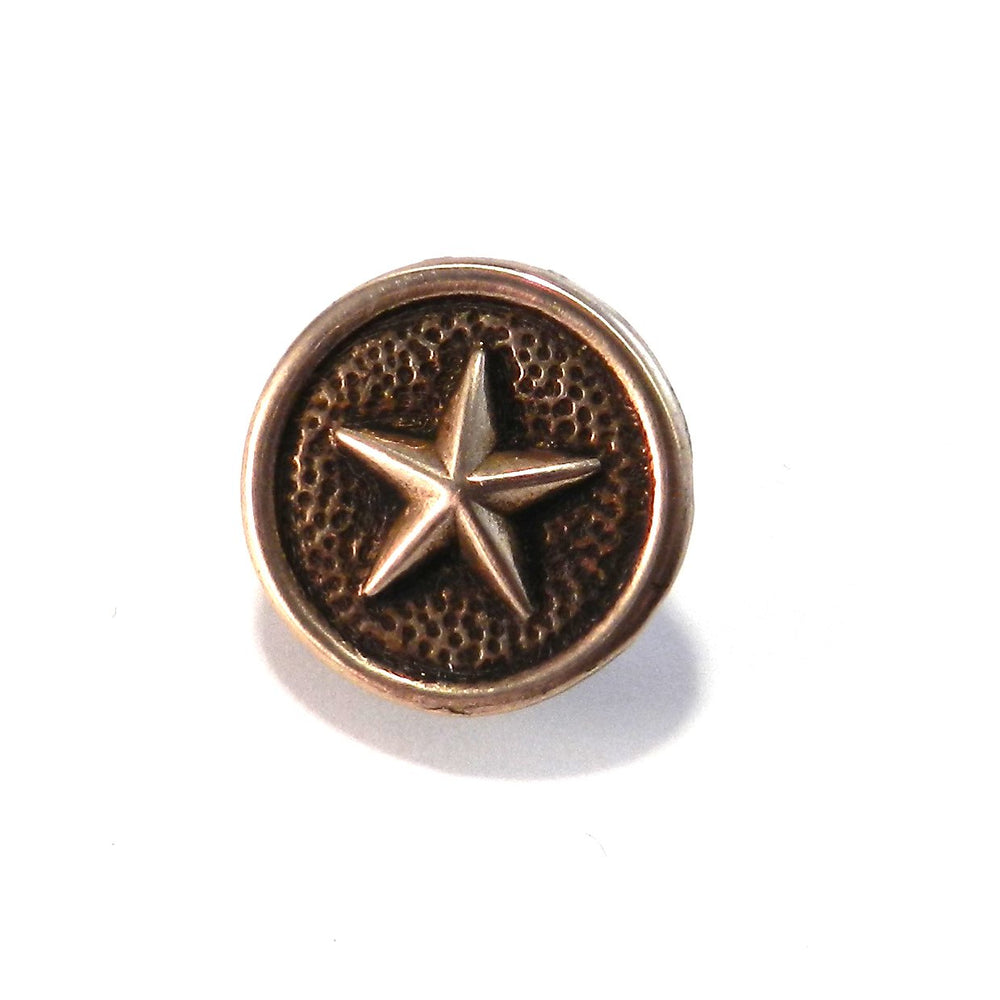 STAR Antique Button Lapel Pin/Hat Pin - SILVER or BRONZE