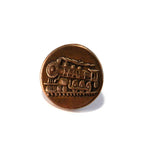 STEAM TRAIN Antique Button Lapel Pin/Hat Pin - SILVER or BRONZE