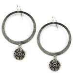 SUNLIGHT Vintage Button Halo Earring - Silver