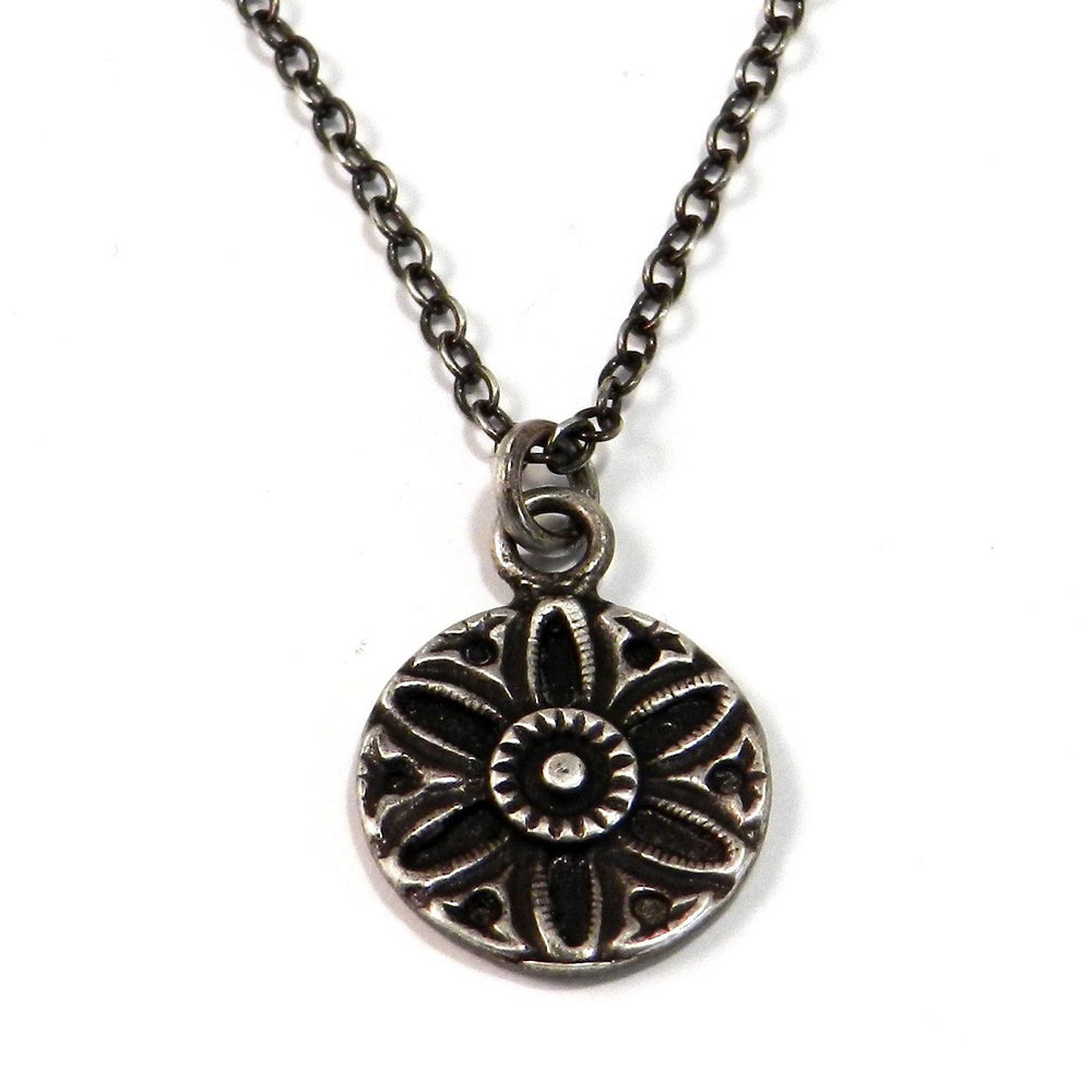 SUNLIGHT Vintage Button Necklace - SILVER