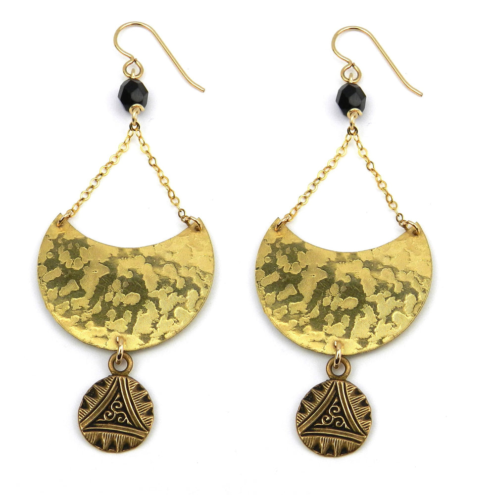 TRIPLE SPIRAL Luna Earrings - GOLD