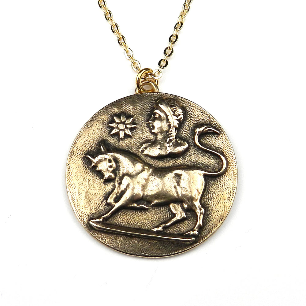 TAURUS - Vintage Astrology Necklace