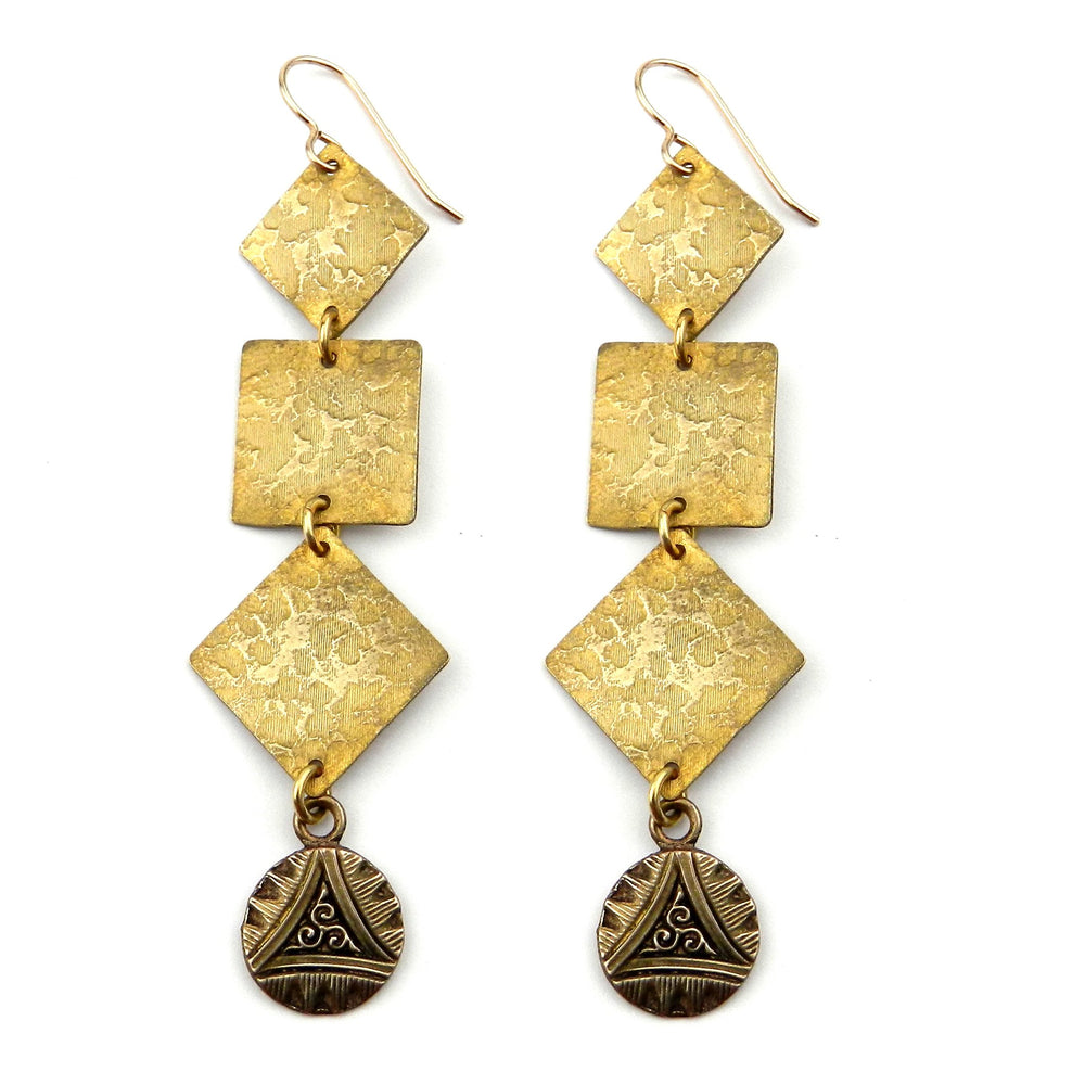 TRIPLE SPIRAL Cascade Earrings - GOLD