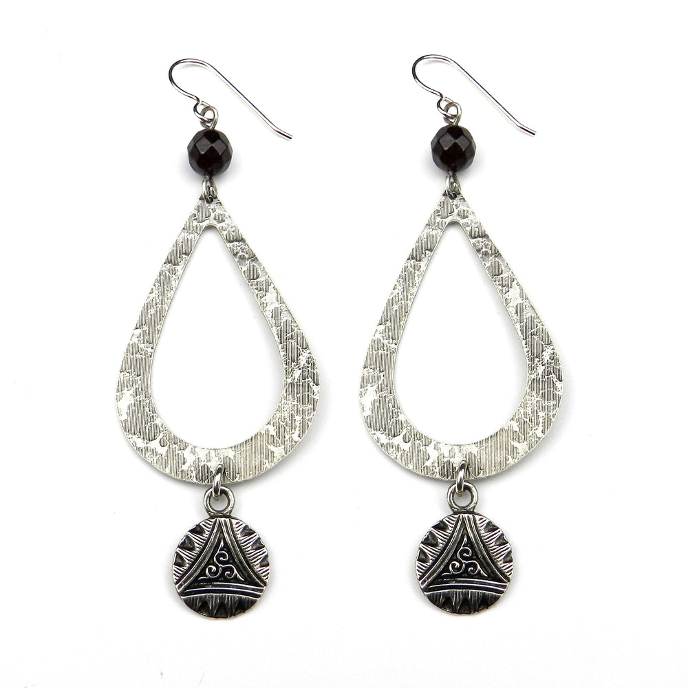 TRIPLE SPIRAL Teardrop Earrings - SILVER