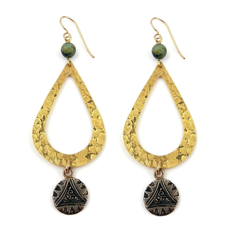TRIPLE SPIRAL Teardrop Earrings - GOLD