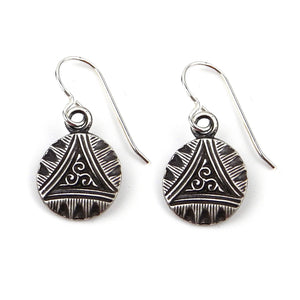 TRIPLE SPIRAL Classic Earrings - Silver