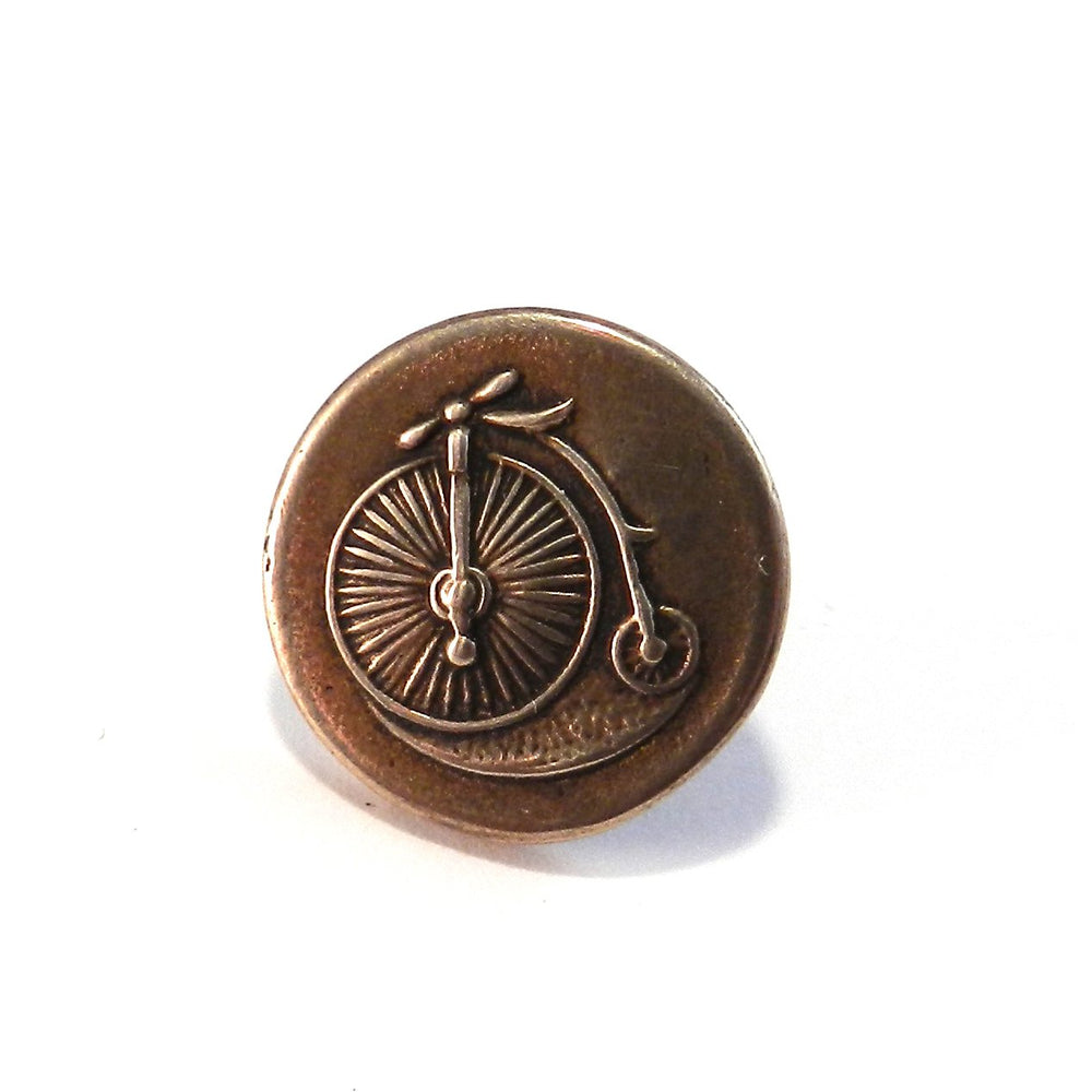 VINTAGE BICYCLE Antique Button Lapel Pin/Hat Pin - SILVER or BRONZE