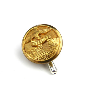 Army Corps of Engineers Vintage Button Pin - Brass
