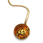 HONEY SWIRL Vintage Button Circlet Necklace - Gold