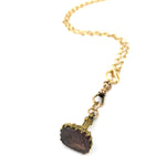 Amethyst Emily Watch Fob Seal Necklace