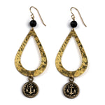 ANCHOR Teardrop Earrings - GOLD