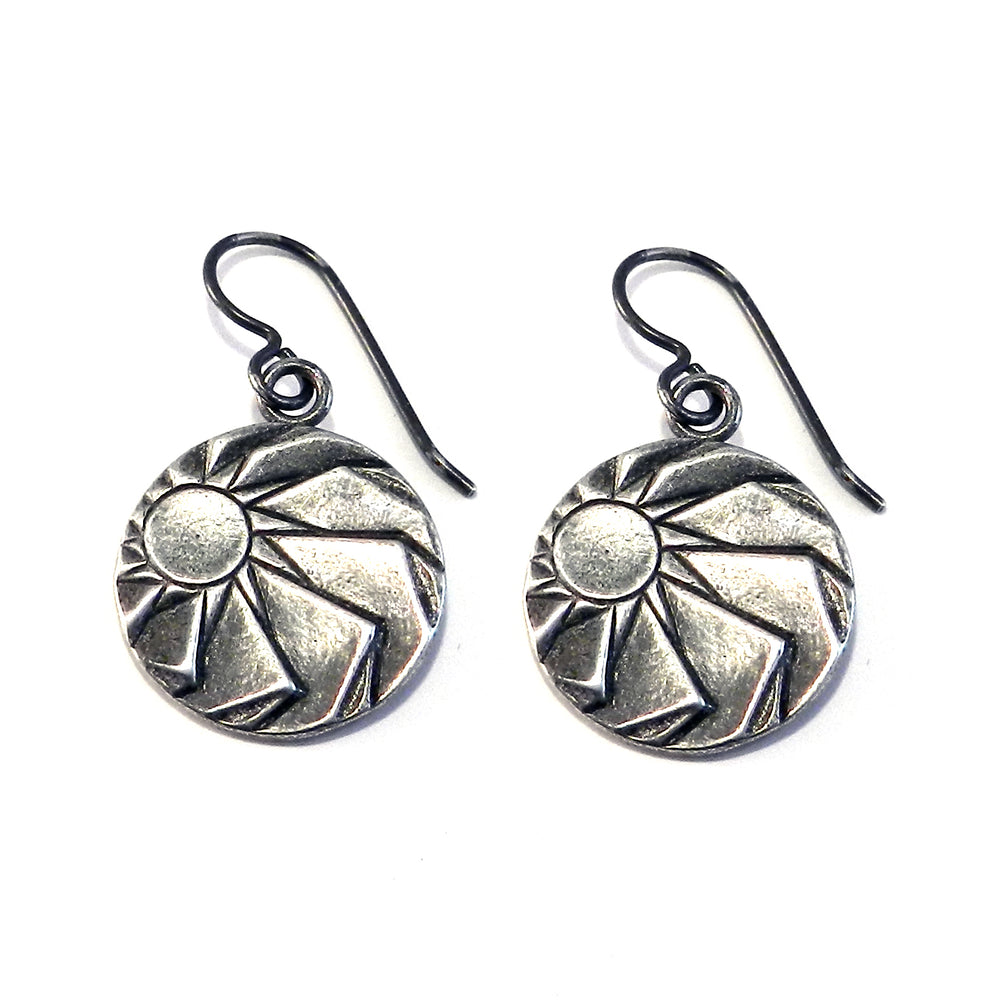 HORIZONS Antique Button Earrings - SILVER
