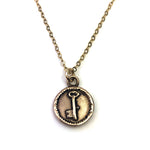 SKELETON KEY Vintage Charm Necklace - GOLD