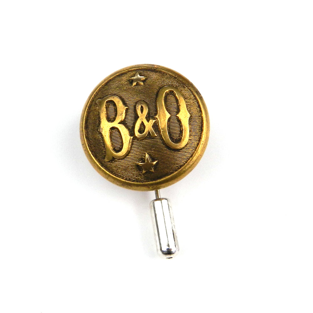 Baltimore Ohio Star - Railroad Button Lapel Pin Hat Pin - Brass