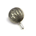 Baltimore Ohio Railroad - Vintage Button Hat Pin / Lapel Pin - Steel