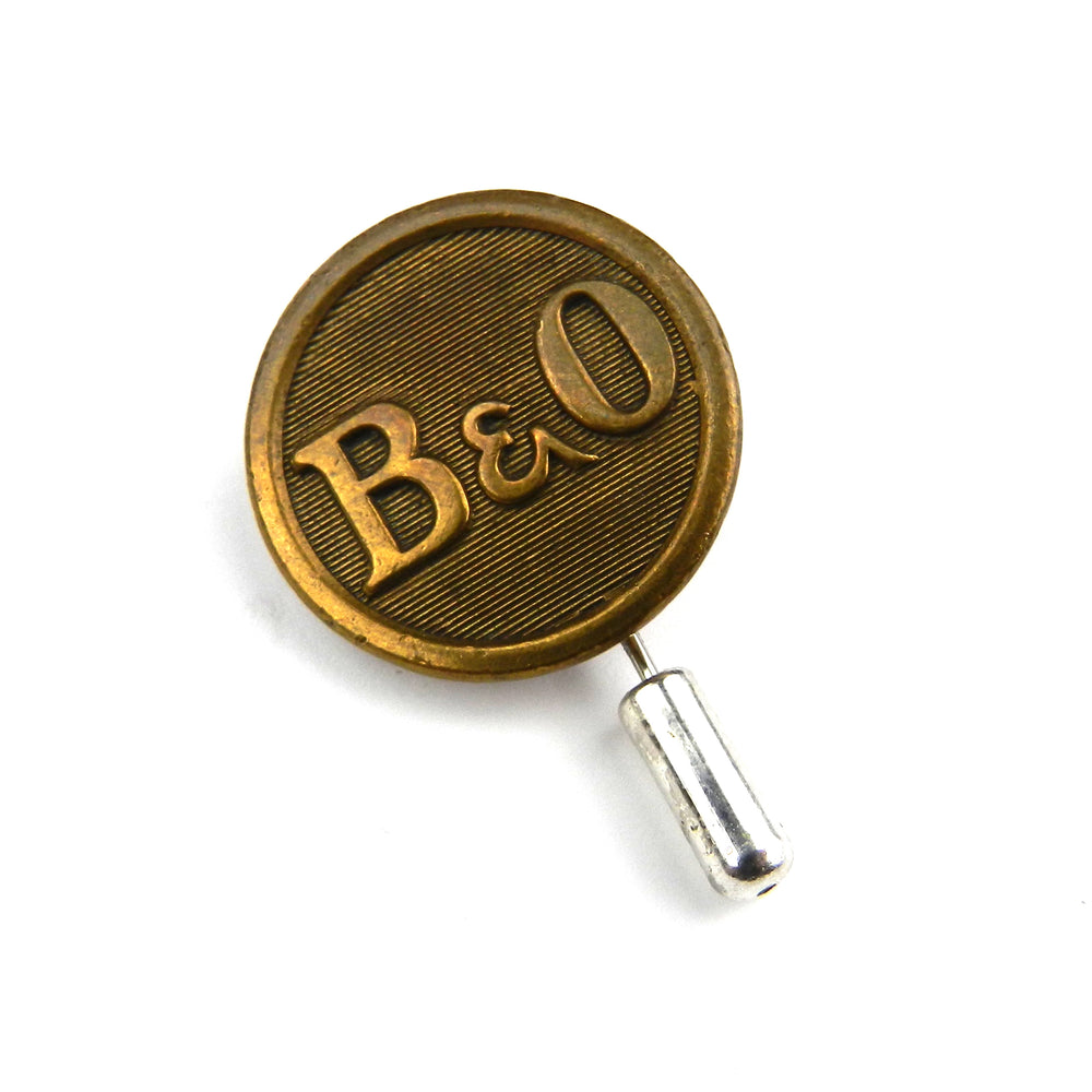 Baltimore Ohio - Railroad Button Lapel Pin Hat Pin - Brass