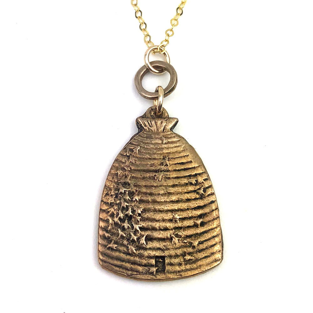 BEEHIVE Victorian Medal Necklace - GOLD